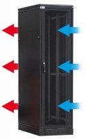 "SZB SE 19"" Serverrack High vent. Sockel"